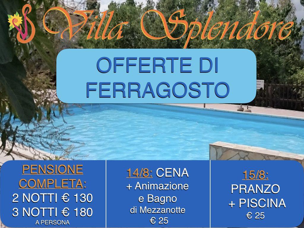 Ferragosto 2017 offerte villa splendore for Cena in piscina