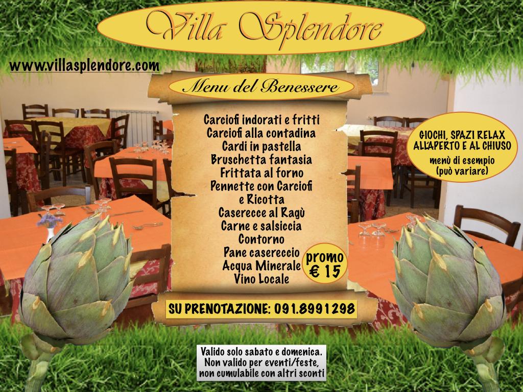 menu 15€ carciofi