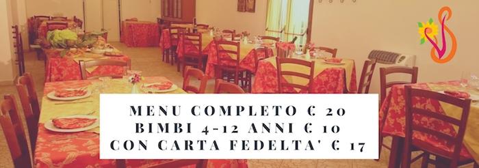 menu completo € 20 villa splendore