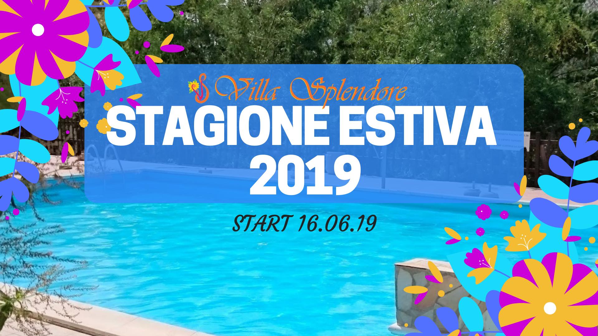 STAGIONE ESTIVA 2019